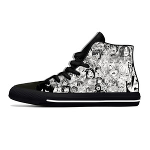 Ahegao face Funny New Arrive Fashion Lightweight High Top Canvas Shoes Men Women Casual Breathable Sneakers 201015