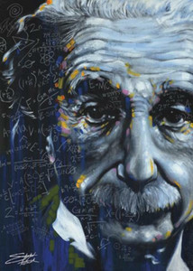 Albert Einstein Its All Relativa Stephen Fishwick Decoração pintura a óleo sobre tela Wall Art Canvas Pictures Wall Decor 201002