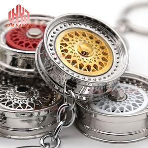 Roda de roda quente anel 3D keychain acessórios criativos auto parte modelo keyring carro chaveiro para toyota