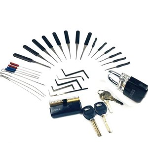 Locksmith Supply Tools Pick Set Practice Lock with Broken Key Remove Tool Tension Tool Combination for Locksmith Beginner