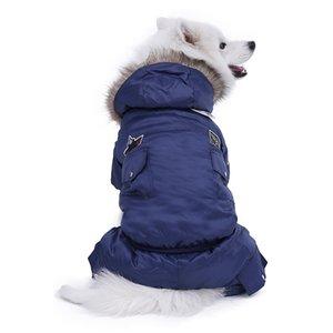 Большая собака теплая одежда зимняя одежда домашняя собака комбинезон теплый большой собак гусеничный костюм щенок с капюшоном куртка Product Product XL-5XL 201114
