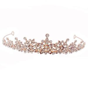 Peluquerías de la corona de perlas aros accesorios de boda conjuntos de novia con cabeza cabeza aro fiesta de cumpleaños princesa cabeza nueva llegada 6 5st L1