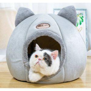 Cute Pet Cat House Щенок кровать Складные Теплые защитные Правила Открытые кровати для кроликов Хомяк Кошки Pet House Willstar LJ201225