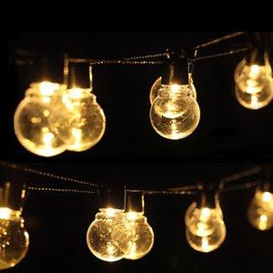 XSKY 6M 20 LED Свадьба Строка Fairy Light Рождественский Сад Декор СВЕТОДИОДНЫЙ Глобус Лампы Светодиодные Строки Строки ЕС США Открытая вечеринка Гирлянда Y200903