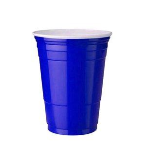 10pcs Set Party Cup Bar Restaurante Suministros de restaurantes Artículos para el hogar para suministros para el hogar 450 ml Taza de plástico desechable rojo F JLLLZCF