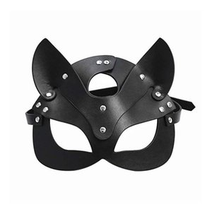 Sex BDSM Products Adult Game Toy Adult Female Leather Mask Face & Collar Catwoman Masquerade SM Mask Cosplay Masks Party Eye Sex Monfl