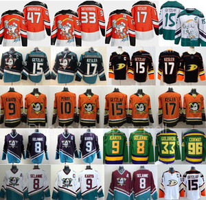 Mighty Anaheim Ducks Jersey Hockey Ryan Getzlaf Jakob Silfverberg Henrique Kesler Rakell Teemu Selanne Paul Kariya Charlie Conway Bombay