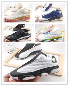 2020 New Best Sell Tie Dye kids 13s Jumpman Flints Bred Royal Toe Hare Court Purple Space Sneakers Trainer Kids Women Men Basketball Shoes