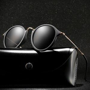 Classic Polarized Sunglasses Brand Design Men Round Metal Driving Sun Glasses Women UV400 Shades Sunglass Oculos de sol