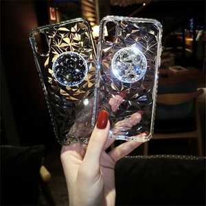 Diamond Cell Phone Cases With Phone Holder Girp For Apple iphone XR 11promax SE Two Colors
