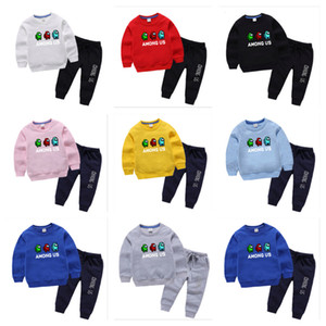 Game Among Us Hoodies Trousers Designer Sweatshirts Children Pullover Pants Kids Cartoon Anime Sweater Junior Boy Girl Two Pieces Set G10510