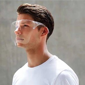 Blocc Прозрачная Защитная маска анти туман водонепроницаемый маска многоразового Face Cover Полный Прочные дышащий Visor партии Маски HWA1951