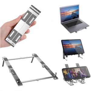Laptop Tablet Stand phone holder tablet pc Support for iPhone iPad MacBook Metal Foldable Portable Holder Adjustable Ergonomic Design Stand