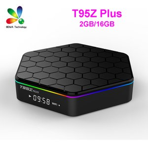 T95Z PLUS SMART TV BOX AMLOGIC S912 OCTA Core 2GB / 16GB Android 7.1 LED Pantalla BT4.0 1000M LAN 5G DUAL WIFI 4K 3D Caja superior