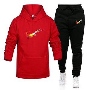 les concepteurs de vêtements homme 2020 Survêtement Hommes Complets Patchwork Noir Solide Couleur Automne Hiver 2020 mens hoodie hiver Femmes Sportsuit