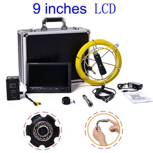 Sewer Borescope Camera with Snake Cam Video Sewer Pipe Inspection Equipment 9 inch LCD Monitor Duct Endoscope Cable 20M