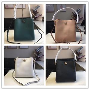 Brand ladies multi-function bucket bag large-capacity shoulder bag handbag Messenger bag fashion leather wallet Size: 26 * 27 * 15cm