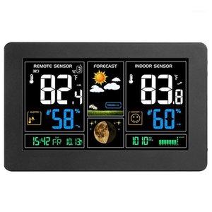 Другие аксессуары для часов Внутренняя открытая метеостанция на открытом воздухе, цифровой цветовой прогнозную станцию с датчиком, домашний сигнал тревоги.