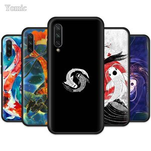 Fish Koi Silicone Carp Case for Xiaomi Mi Note 10 Youth 9 SE 9T A3 A2 8 Lite Poco F2 Pro TPU Black Soft Mobile Phone Cover Coque