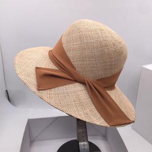 bucket hats edition Taiwan female eaves fisherman hat treasure grass bowknot basin shade sunscreen cap elegant hat on holiday