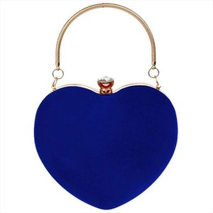 Evening Bags LJL Heart Shape Clutch Bag Messenger Shoulder Handbag Tote Evening Bag Purse,blue Drop Shipping