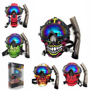 2021 Gas Mask With Acrylic Bong Silicone Pipe Smoking Accessories Silicone Mask Hookah Shisha Free SHipping Wholesale