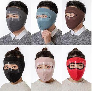 8 цветов 2 в 1 Face Mask Winter Ski Mask Мужчины Женщины Открытый Защита лица Крышка Earmuffs Велоспорт Мотоцикл Теплый конструктор маски