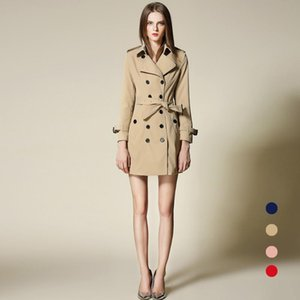 2020 Autumn Winter New arrivals classical double breasted waterproof trench coat for women