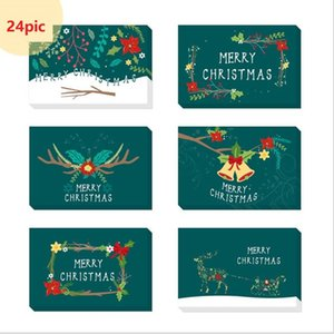 greeting card creative blessing card sticker envelope Christmas gift 24pic sets Christmas tree elk golden