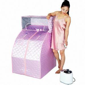 Schweiß Steamer Haushaltsdampfsauna Bade Monat Sweat Box Begasung Maschine Einzel Folding Detox Steaming Zimmer Bucket hM0J #