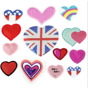 Sequin patches Iron on clothing new cloth affixed wholesale embroidery label clothing accessories high-end embroidery patches