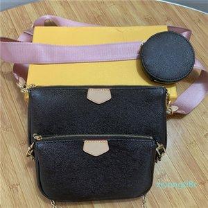 Fashion handbags purses Women favorite mini pochette 3pcs accessories crossbody bag vintag shoulder bags leather multi color straps z08