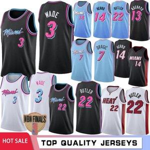 NCAA 34 Giannis Antetokounmpo Homens Camisolas de faculdade Miami Heat 3 Dwyane Wade 22 Jimmy Butler Houston Rockets 0 Russell Westbrook 13 James Harden costurado