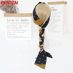 Fashion EU Street Style Silk Scarf Travel Headwear Women Fashion Lengthen Headbands Adjust Length 201021