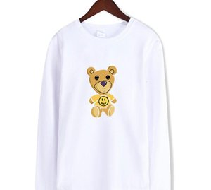 NEW Justin Bieber drew house teddy bear printing T Shirt for men tops Korean loose tops ins tide Hooded Sweatshirt55