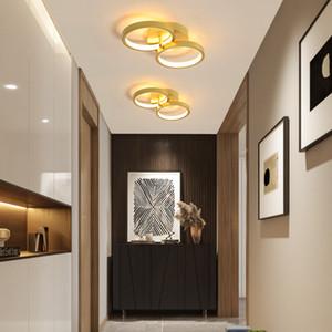 Nordic Rame Hanging Lights Modern Piccola lampada a sospensione Semplicità per guardaroba Camera da letto Bagno Scale Scale Aisle Plafoniera R108