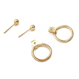 Fashion Bohemian Jewelry Vintage Silver Gold Earrings Jewelry Geometric Round Metal Stud Earrings for Women Girl