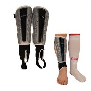 1 Çift Bacak Pedleri Shin Guard Buzağı Koruyucu Plaka Karate Futbol için Soccor Kick Boks Spor Bacakları Isıtıcı Kalkanlar Kemer Socks1