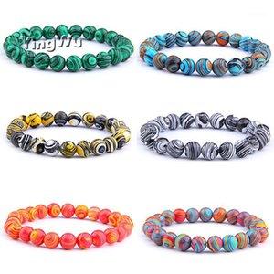 Women Men Bracelets Stone Beaded Bracelets Malachite Beads Strand Women Charm Bracelet Buddhist Jewelry Bijoux1