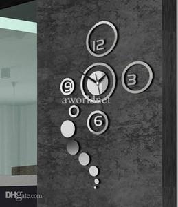 Atraente DIY Decorative Art Relógio de Parede Criativo Parede Casa Decoração Sala de Estar Relógio De Parede Espelho Acrílico Etiquetas