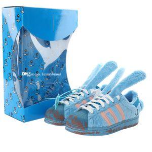 Melting Tristezza Coniglio pattina pattini per i Mens Shell Toe Skate scarpe degli uomini del progettista Skateboard Womens Carino scarpe da tennis delle donne Chaussures Sport