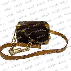 cuadro masculino de Crossbody del mujeres de la manera suave tronco mini bolso del cuero genuino del bolso de hombro del diseño de cadena de embrague bolsa de mensajero de los hombres