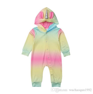 Оптом с капюшоном Baby Rompers Детские дизайнерские Одежда для мальчиков Новорожденные подъем Одежда для одежды Детский младенческий мальчик дизайнер одежды