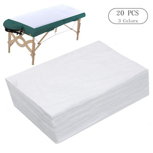 10 20 PCS Spa Bed Sheets Disposable Massage Table Sheet Waterproof Bed Cover Non-woven Fabric, 180 x 80 CM 201112