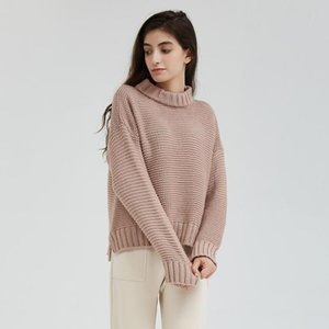 Jumpers Classic Color 2021 Autumn Winter Women Pull Sweaters Stylish Loose Warm Thick Chunky Pullover