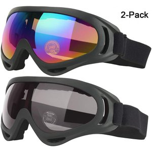 Ski Motorcycle Snowboard Winter Skiing Sport Bike Riding Goggles Anti Fog Wind Resistance 2 Pack Q0107