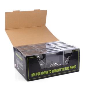 24pcs Metal Puzzle Might Brain Teaser Magic Wire Puzzles Juguetes Juguetes para niños Adultos Niños 3D Rompecabezas de metal 3D Regalos creativos Y200413