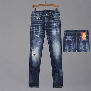 Jeans masculinos 2020 Skinny Traje Motocicleta Motocicleta Jeans Para Hombres Diseño De Moda Jeans Menores Buena Calidad DQ25