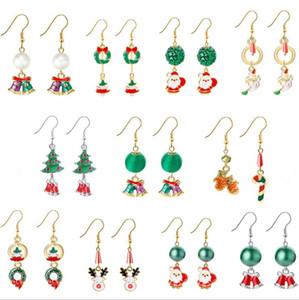 Natal 11 estilos crianças jóias presente da jóia Brincos Feliz Natal cervos Árvore do floco de neve brincos Crianças
