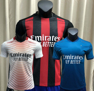 Jogador Versão 20 21 AC Maillots De Foot Soccer Jersey Home 3Rd Milão Brahim Theo Ibrahimovic 2020 2021 Futebol